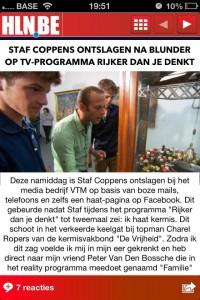 Staf Coppens ontslagen (nep)